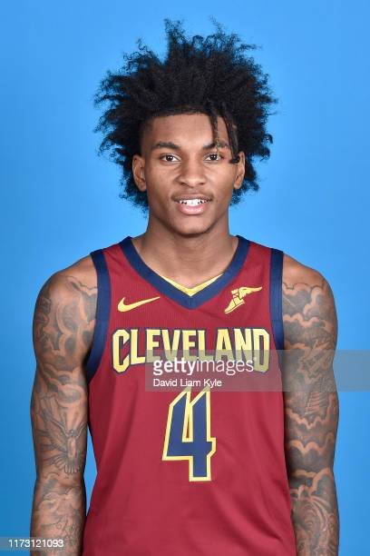Kevin Porter Jr. #4 of the Cleveland Cavaliers poses for a head shot on media day at Cleveland Clinic Courts on September 30, 2019 in Independence,...