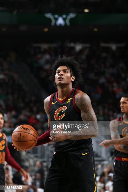 Kevin Porter Jr. #4 of the Cleveland Cavaliers shoots a free throw during a game against the Milwaukee Bucks on December 14, 2019 at the Fiserv Forum...
