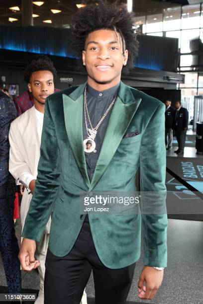 Kevin Porter Jr arrives at the arena before the 2019 NBA Draft on June 20 2019 at the Barclays Center in Brooklyn New York NOTE TO USER User...