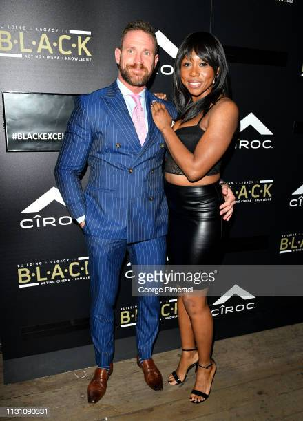 Kevin Pozzo and Amanda Warren attend The Annual Black Ball powered by Cîroc Black Raspberry and Don Julio on February 20 2019 in Los Angeles...