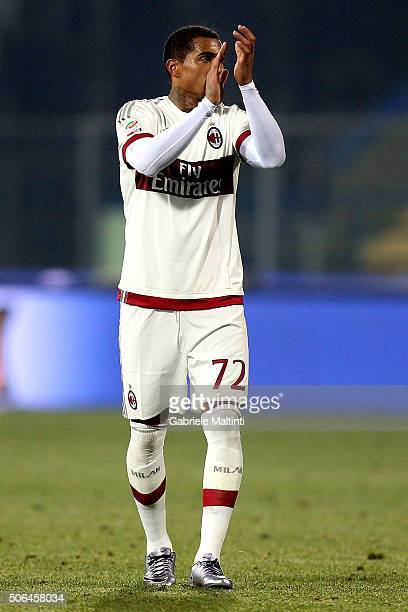 Kevin Prince Boateng of AC Milan in action during the Serie A match between Empoli FC and AC Milan at Stadio Carlo Castellani on January 23 2016 in...