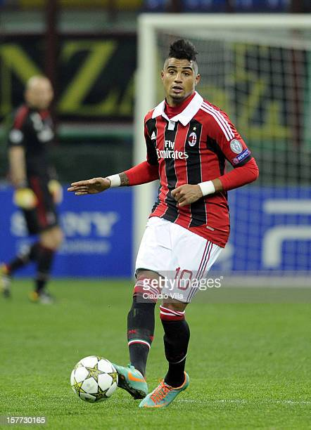 Kevin Prince Boateng of AC Milan in action during the UEFA Champions League group C match between AC Milan and Zenit St Petersburg at San Siro...