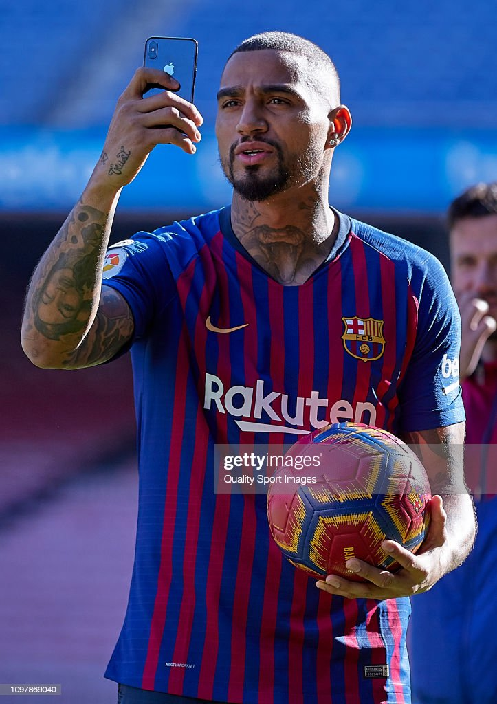 New Barcelona Signing Kevin-Prince Boateng Unveiled : News Photo