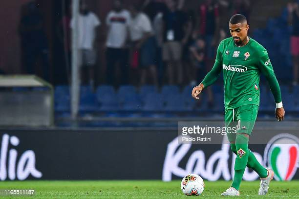 Kevin Prince Boateng of Fiorentina reacts with disappointment after Cristian Zapata of Genoa's goal during the Serie A match between Genoa CFC and...