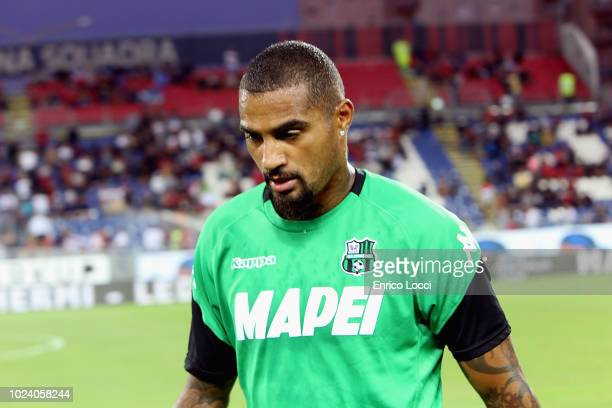 Kevin Prince Boateng of Sassuolo during the serie A match between Cagliari and US Sassuolo at Sardegna Arena on August 26 2018 in Cagliari Italy