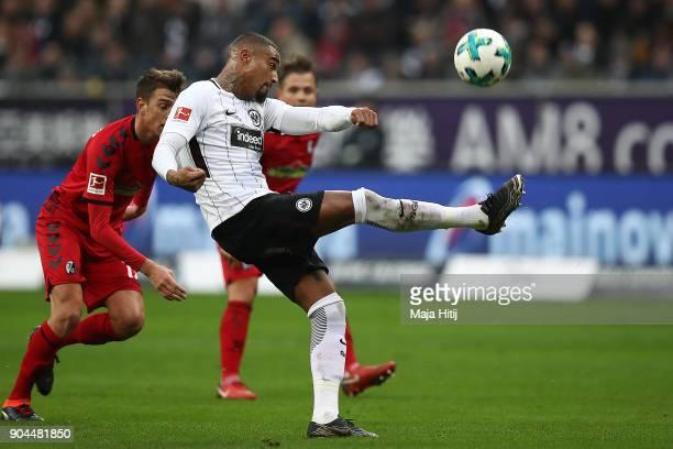 Kevin PrinceBoateng of Frankfurt during the Bundesliga match between Eintracht Frankfurt and SportClub Freiburg at CommerzbankArena on January 13...