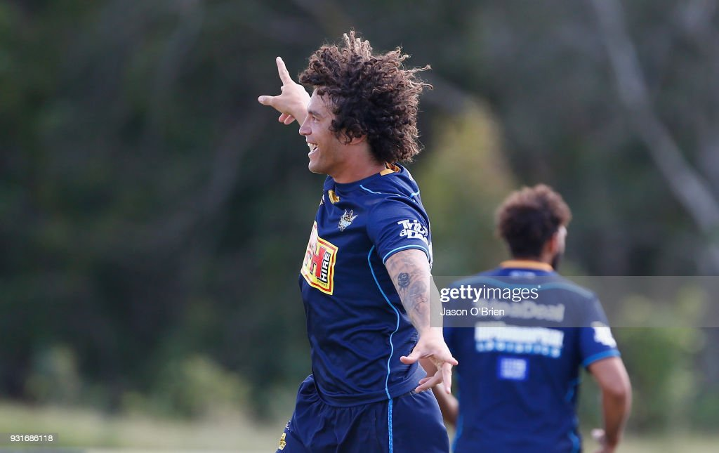 Kevin Proctor during a Gold Coast Titans NRL training session at Parkwood on March 14, 2018 in Gold Coast, Australia.