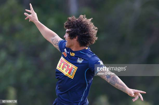 Kevin Proctor during a Gold Coast Titans NRL training session at Parkwood on March 14 2018 in Gold Coast Australia