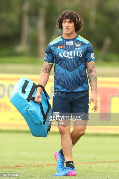 Kevin Proctor looks on during a Gold Coast Titans NRL training session on May 10 2017 in Gold Coast Australia
