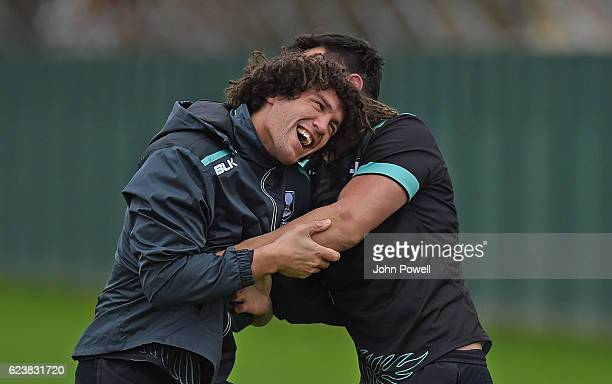 Kevin Proctor of New Zealand Kiwis during a trainings session at Melwood Training Ground on November 17 2016 in Liverpool England