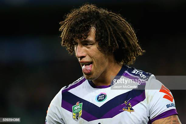 Kevin Proctor of the Storm watches on during the round 14 NRL match between the Sydney Roosters and the Melbourne Storm at Allianz Stadium on June 11...