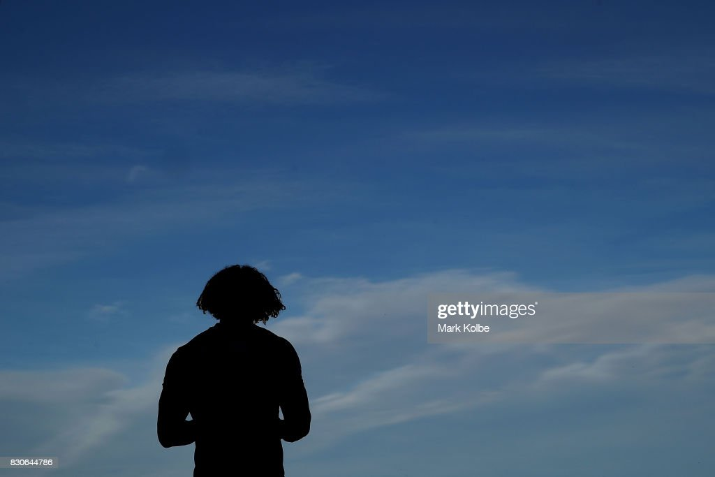Kevin Proctor of the Titans looks on as he waits for the start of the second half during the round 23 NRL match between the St George Illawarra Dragons and the Gold Coast Titans at UOW Jubilee Oval on August 12, 2017 in Sydney, Australia.