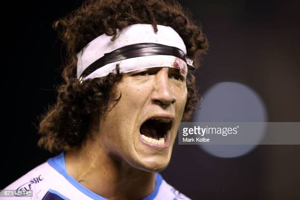 Kevin Proctor of the Titans shouts during the round eight NRL match between the Cronulla Sharks and the Gold Coast Titans at Southern Cross Group...