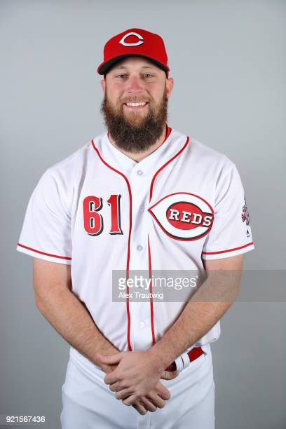 Kevin Quackenbush of the Cincinnati Reds poses during Photo Day on Tuesday February 20 2018 at Goodyear Ballpark in Goodyear Arizona