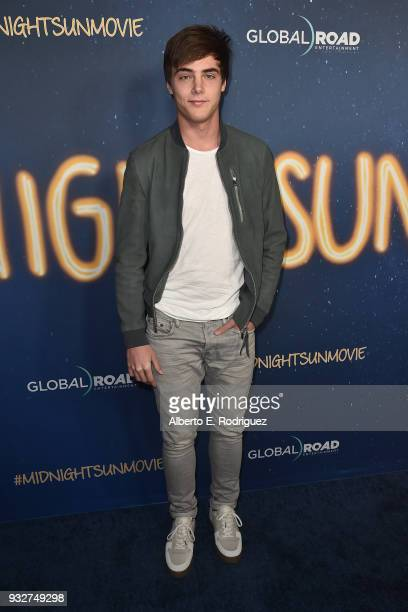 Kevin Quinn attends Global Road Entertainment's world premiere of 'Midnight Sun' at ArcLight Hollywood on March 15 2018 in Hollywood California
