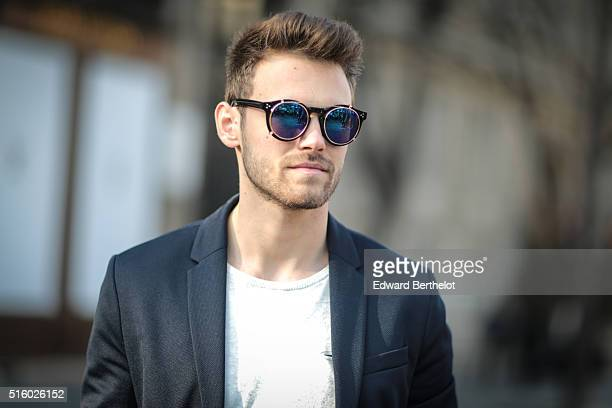 Kevin Ragonneau is wearing Adidas Superstar shoes Biaggio pants a Pull and Bear top a Zara jacket a Daniel Wellington watch and Usine a Lunettes...