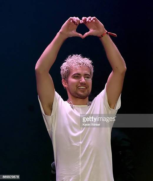 Kevin Ray of Walk the Moon performs onstage during KROQ Almost Acoustic Christmas 2017 at The Forum on December 10 2017 in Inglewood California