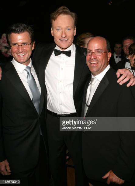 Kevin Reilly Conan O'Brien and Jeff Zucker of NBC