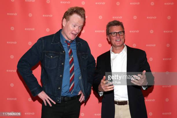 Kevin Reilly President of TNT TBS and truTV and Chief Content Officer HBO Max shares a laugh with Conan O'Brien on day three of The Relevance...