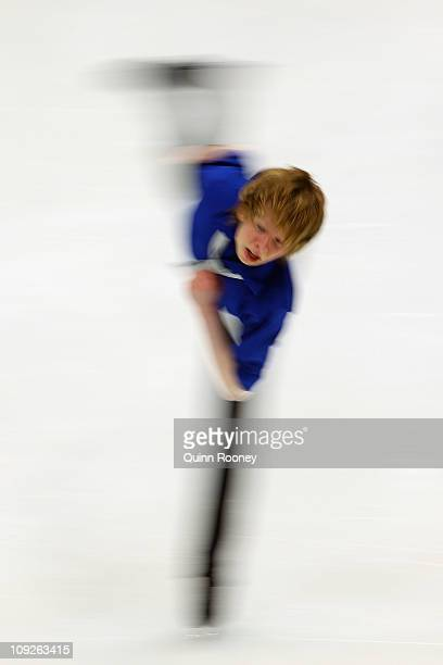 Kevin Reynolds of Canada skates in the Men's Short Program during day two of the Four Continents Figure Skating Championships at Taipei Arena on...