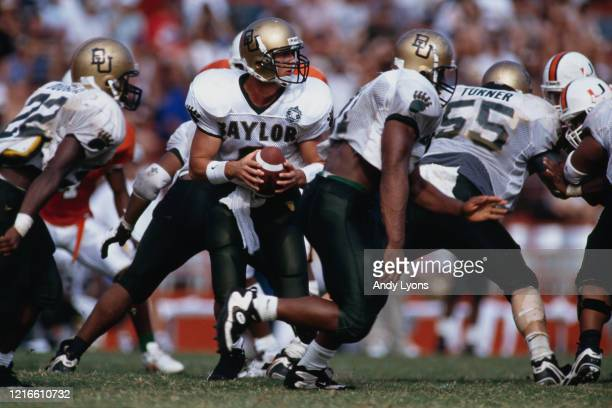 Kevin Rhea, Quarterback for the Baylor University Bears during the NCAA Big East Conference college football game against the University of Miami...