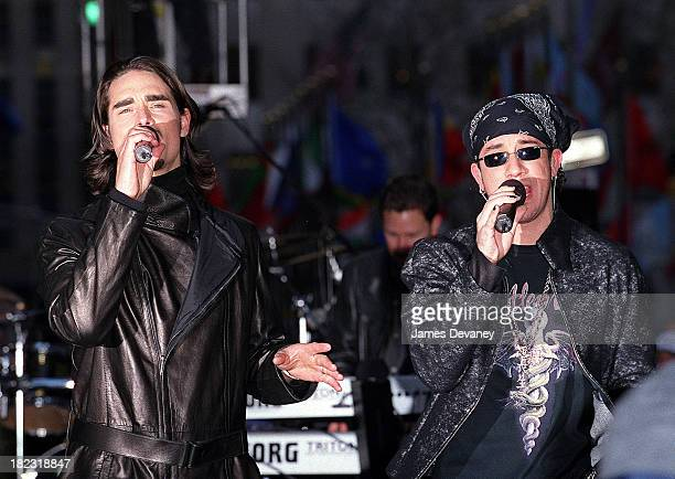 Kevin Richardson and AJ McLean of Backstreet Boys