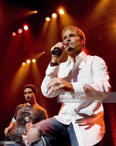 Kevin Richardson and Brian Littrell during Kevin Richardson Makes a Surprise Appearance at Brian Littrell's Concert in Tokyo at Studio Coast in Tokyo...