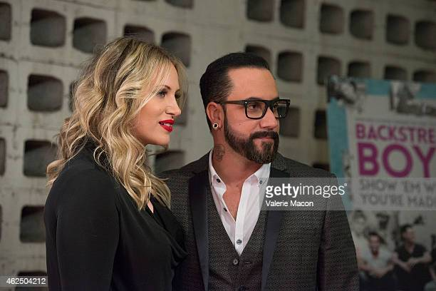 Kevin Richardson and wife Mandy arrive at the Premiere Of Gravitas Ventures' Backstreet Boys Show 'Em What You're Made Of at ArcLight Cinemas...