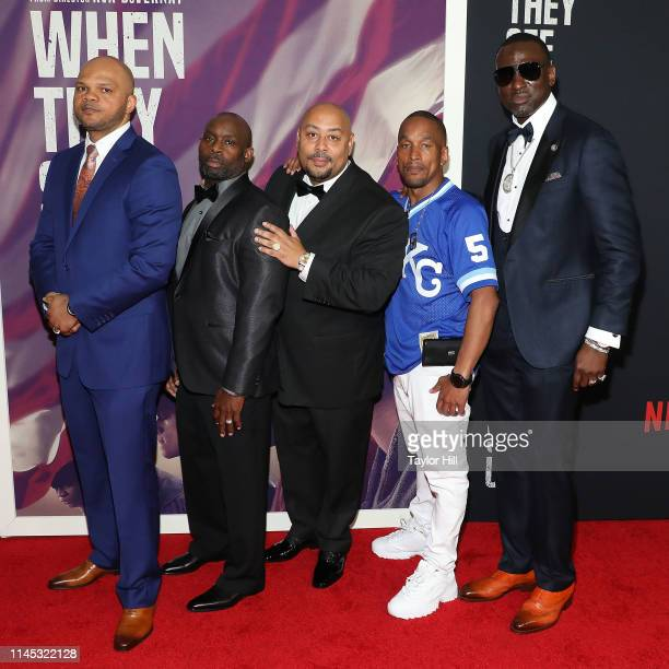 Kevin Richardson Antron Mccray Raymond Santana Jr Korey Wise and Yusef Salaam collectively known as the Central Park Five attend the World Premiere...