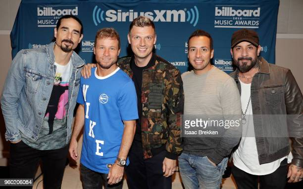 Kevin Richardson Brian Littrell Nick Carter Howie Dorough and AJ McLean of The Backstreet Boys attend The Morning Mash Up on SiriusXM Hits 1...