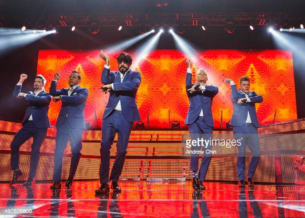 Kevin Richardson, Howie Dorough, A.J. McLean, Brian Littrell and Nick Carter of Backstreet Boys perform onstage at Rogers Arena on May 20, 2014 in...