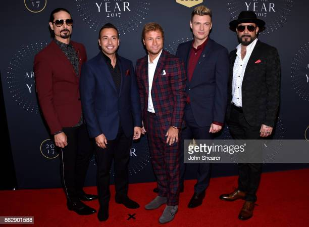 Kevin Richardson Howie Dorough Brian Littrell Nick Carter and AJ McLean of the Backstreet Boys arrive at the 2017 CMT Artists Of The Year on October...