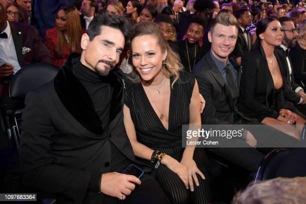 Kevin Richardson Kristin Richardson Nick Carter and Lauren Kitt during the 61st Annual GRAMMY Awards at Staples Center on February 10 2019 in Los...