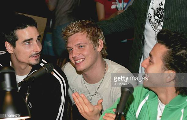 Kevin Richardson Nick Carter and Brian Littrell of the Backstreet Boys Photo by J Shearer/WireImage for The Recording Academy