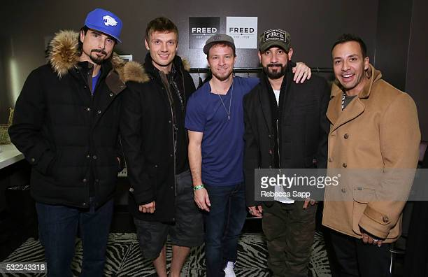 Kevin Richardson Nick Carter Brian Littrell AJ McLean and Howie Dorough of the Backstreet Boys attend 12th Annual MusiCares MAP Fund Benefit Concert...