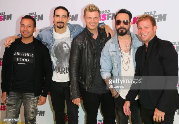 Kevin Richardson Nick Carter Howie Dorough AJ McLean and Brian Littrell of Backstreet Boys attend the 1027 KIIS FM's 2017 Wango Tango on May 13 2017...