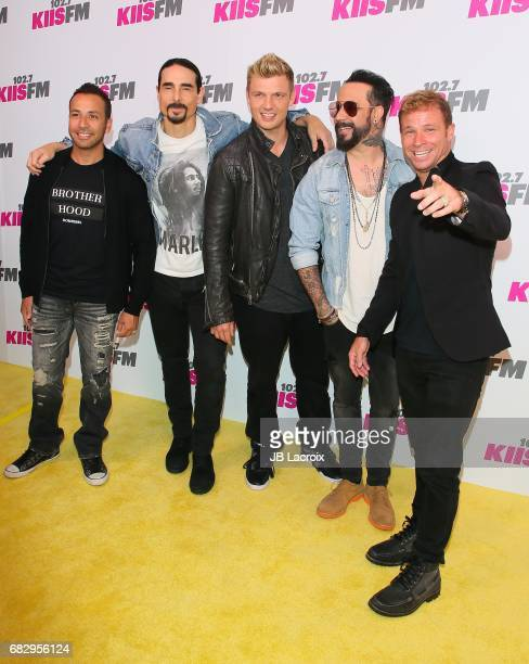 Kevin Richardson Nick Carter Howie Dorough AJ McLean and Brian Littrell of Backstreet Boys attend the 1027 KIIS FM's 2017 Wango Tango on May 13 2017...
