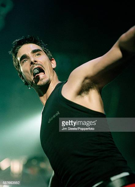 Kevin Richardson of Backstreet Boys performing on stage at Wembley Arena in London on the 22nd March 1998