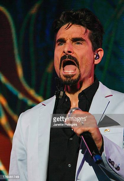 Kevin Richardson of the Backsteet Boys performs at Nikon at Jones Beach Theater on August 13 2013 in Wantagh New York