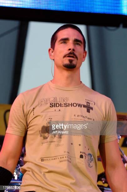 Kevin Richardson of the Backstreet Boys during KIIS 1027's Wango Tango at Angel's Stadium in Anaheim California United States