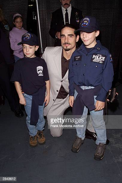 Kevin Richardson of the Backstreet Boys with fans backstage at The Concert for New York City at Madison Square Garden in New York City 10/20/01 The...