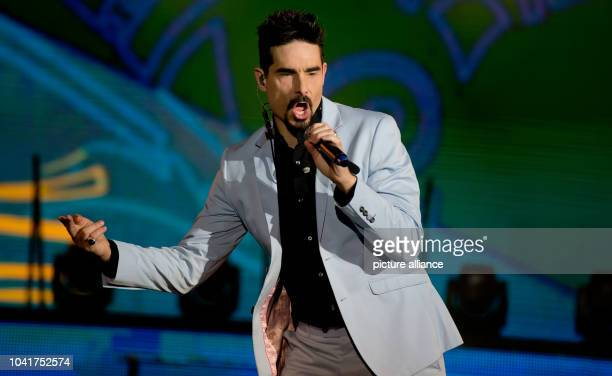 Kevin Richardson of the US band Backstreet Boys performs on the stage of the Olympic Hall in Munich Germany 03 March 2014 It was the first time in...