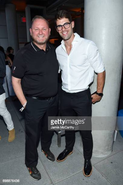 Kevin Robert Frost and Chad White attend the amfAR generationCURE Solstice 2017 at Mr Purple on June 20 2017 in New York City