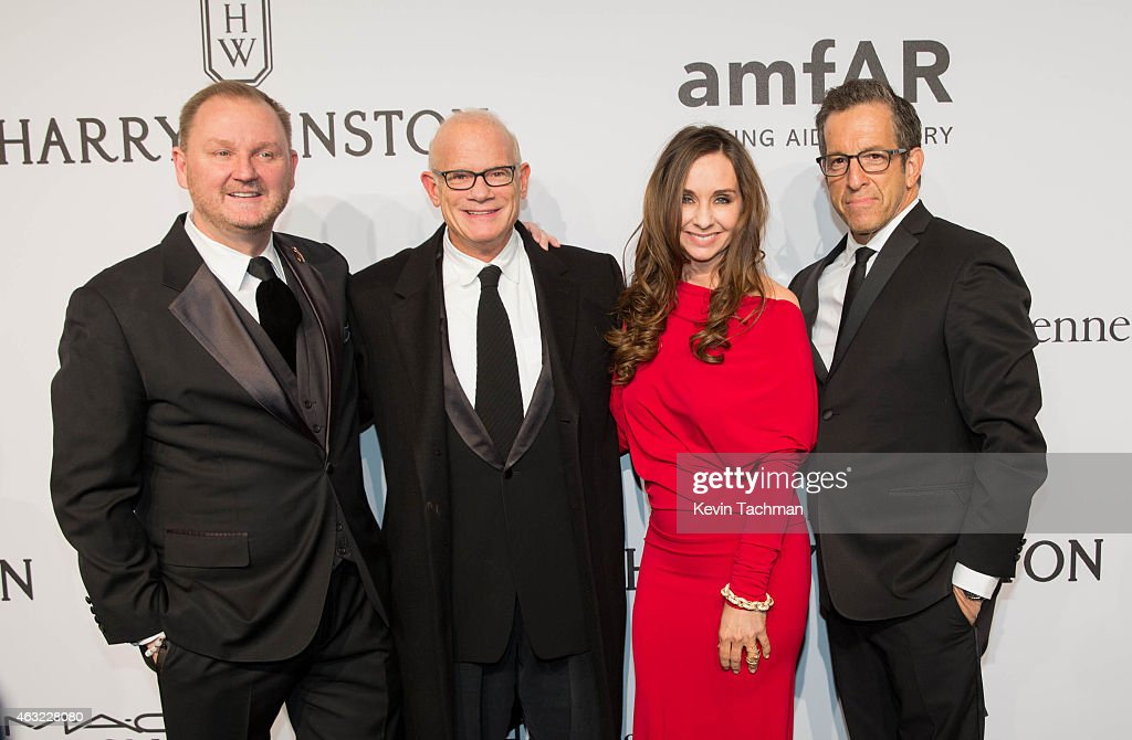 Kevin Robert Frost, Bill Roedy, Alexandra Roedy and Kenneth Cole attend the 2015 amfAR New York Gala at Cipriani Wall Street on February 11, 2015 in New York City.