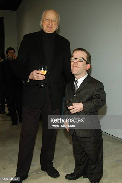 Kevin Roche and Marc Glimcher attend Corban Walker Grid Stack Opening Reception at PaceWildenstein on February 2 2007 in New York City