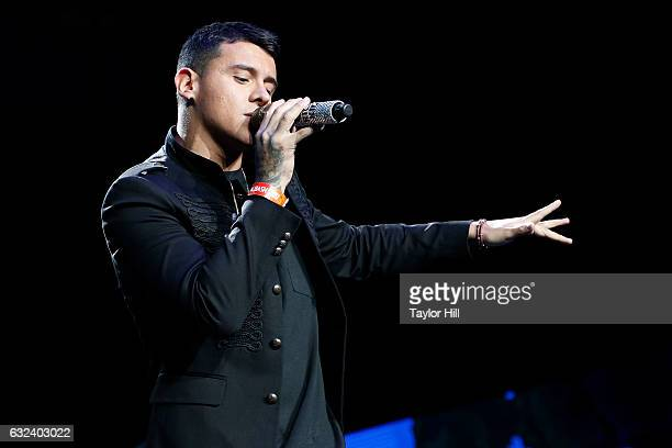 Kevin Roldan performs during Mega 963's Calibash 2017 at Staples Center on January 21 2017 in Los Angeles California