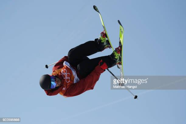 Kevin Rolland of France competes during the Freestyle Skiing Men's Ski Halfpipe Final on day thirteen of the PyeongChang 2018 Winter Olympic Games at...