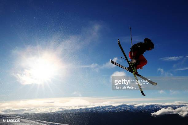 Kevin Rolland of France competes during the Winter Games NZ FIS Men's Freestyle Skiing World Cup Halfpipe Finals at Cardrona Alpine Resort on...