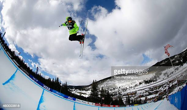 Kevin Rolland of France competes in the final round of the FIS Freestyle Ski World Cup 2015 men's ski halfpipe during the USSA Grand Prix on December...
