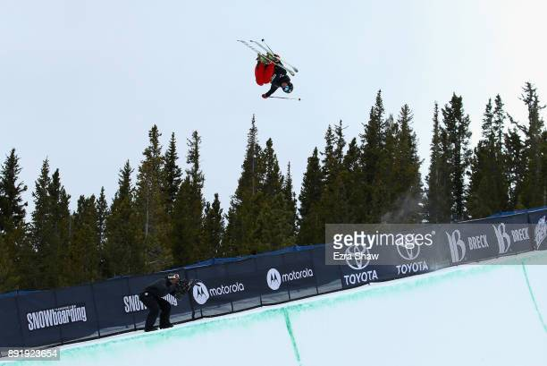 Kevin Rolland of France competes in the Superpipe qualification during Day 1 of the Dew Tour on December 13 2017 in Breckenridge Colorado